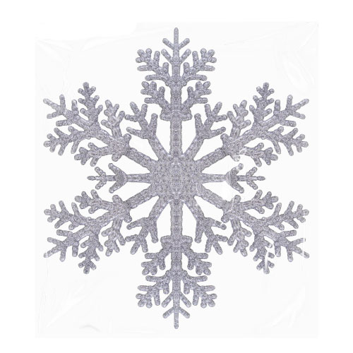 Silver Christmas Glittered Snowflake 30cm Product Image