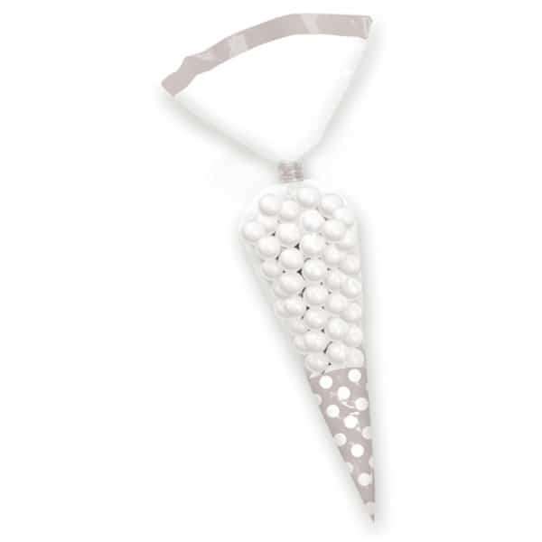 Silver Cone Polka Dots Gift Bags - Pack of 10