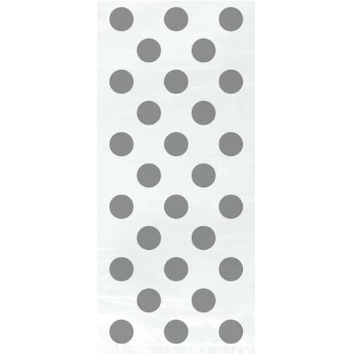 Silver Decorative Dots Gift Bags - Pack of 20