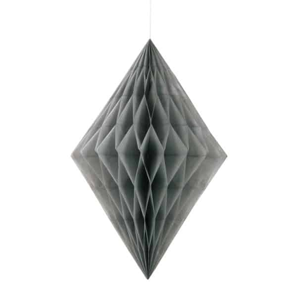 Silver Diamond Honeycomb Hanging Decoration 35cm Product Image