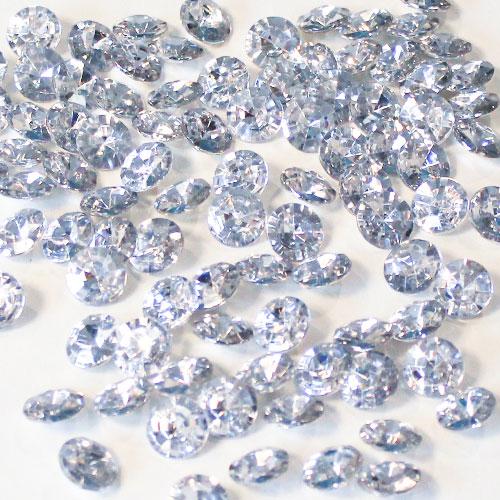 Silver 12mm Round Diamonds Premium Table Gems 28g