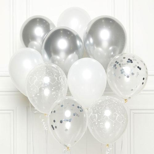 Silver DIY Latex Balloon Kit Product Image