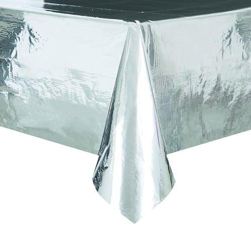 Silver Foil Tablecover 274cm x 137cm