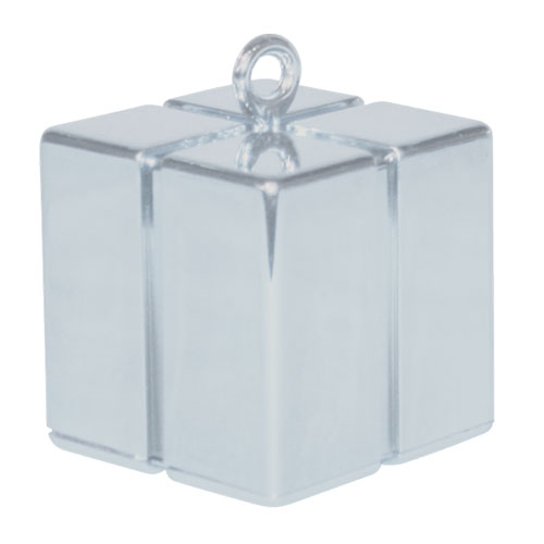 Silver Gift Box Balloon Weight 110g Product Image