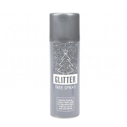 Silver Glitter Christmas Tree Spray 175ml