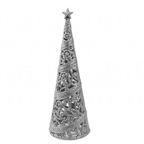 Silver Glitter Decorative Christmas Tree 24cm Product Image