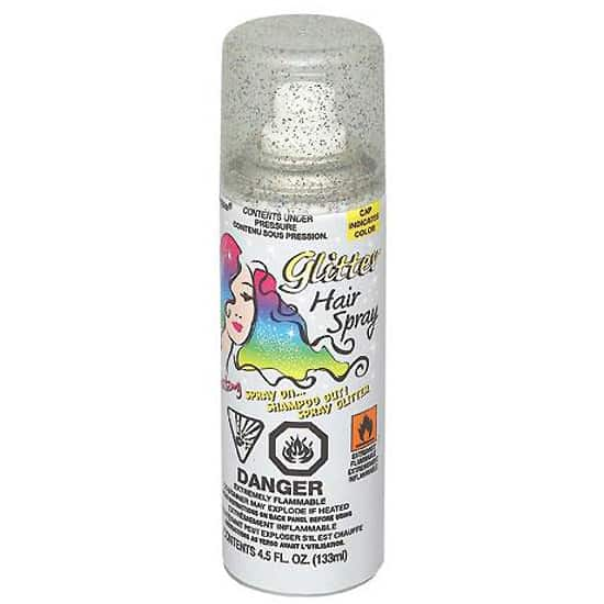 Silver Glitter Hair Spray - 133ml Product Image