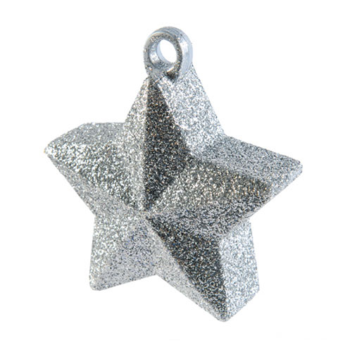 Silver Glitter Star Balloon Weight 145g Product Image