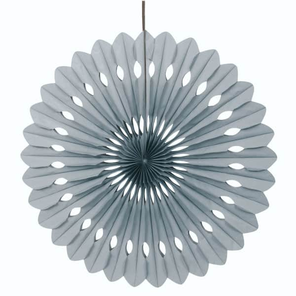 Silver Hanging Decorative Honeycomb Fan 40cm Product Image