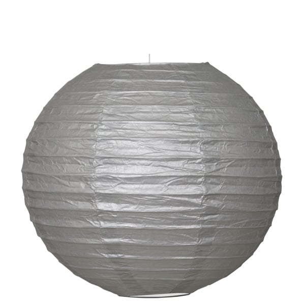 Silver Hanging Round Paper Lantern 25cm Product Image