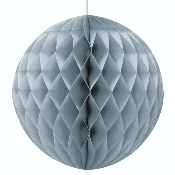 Silver Honeycomb Hanging Decoration Ball 20cm Product Image