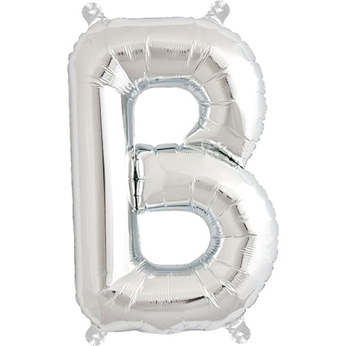 Letter B Silver Air Fill Foil Balloon 40cm / 16 in	 Product Image
