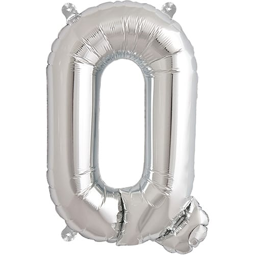 Letter Q Silver Air Fill Foil Balloon 40cm / 16 in Product Image