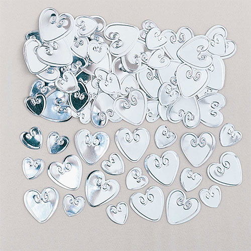 Silver Loving Hearts Table Confetti 14 Grams Product Image