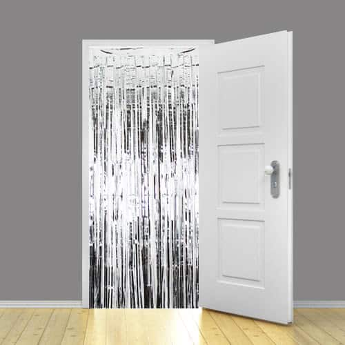 Silver Metallic Shimmer Curtain - 3 x 8 Ft / 91 x 244cm - Pack of 25 Product Image