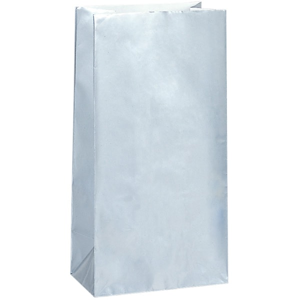 Silver Paper Party Bag - Pack of 10 Product Image