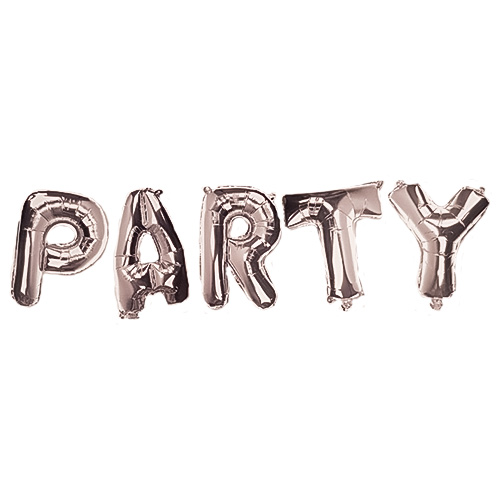 Silver PARTY Air Fill Foil Letter Balloon Kit 34cm Product Image