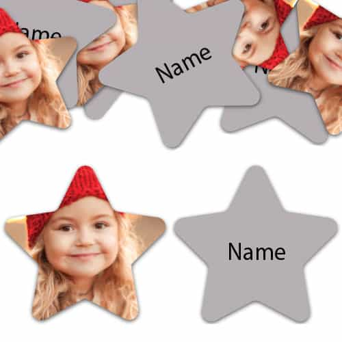 STAR Shape - Silver Personalised Confetti - Pack of 50