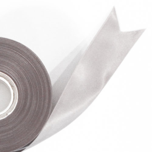 Silver Satin Faced Ribbon Reel 45mm x 50m Product Image