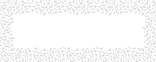 Silver Squiggle Design Medium Personalised Banner - 6ft x 2.25ft