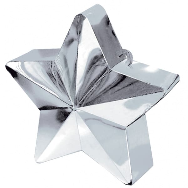 Silver Star Balloon Weight Product Image
