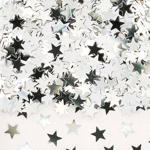 Silver Stars Table Confetti - 14 Grams Product Image