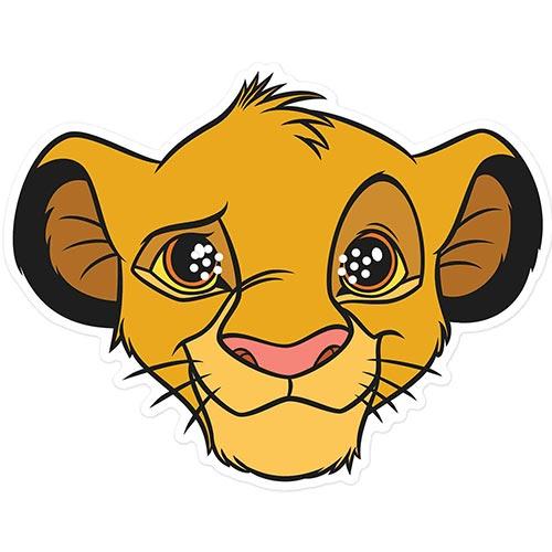 Simba Disney Lion King Cardboard Face Mask Product Image