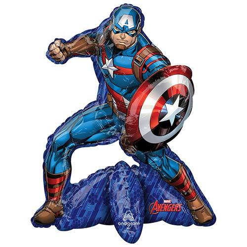 Sitting Avengers Captain America Air Fill Giant Foil Balloon 66cm