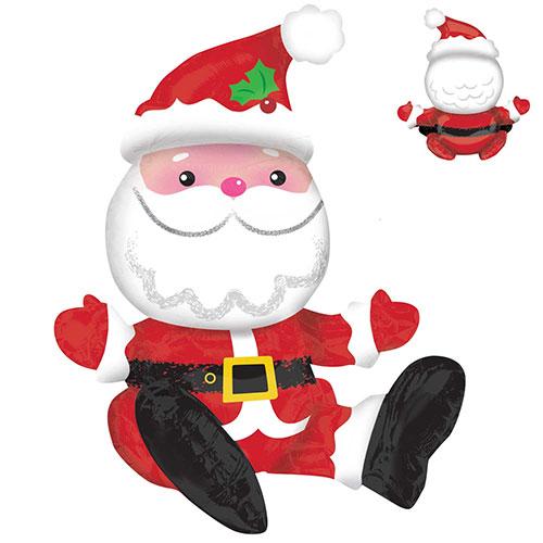 Sitting Santa Air Fill Christmas Foil Balloon 53cm