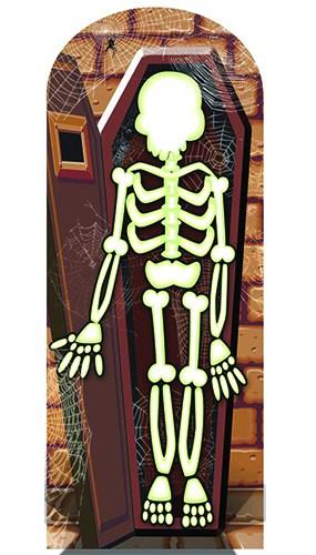 Skeleton Stand In Cardboard Cutout - 180cm