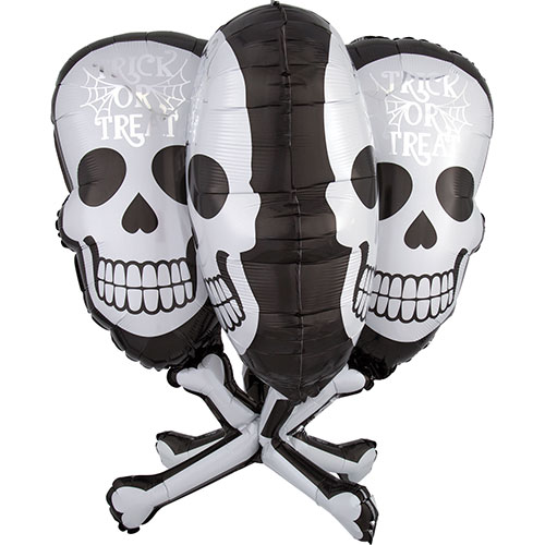 Skull And Bones Helium Foil Giant Balloon 78cm / 31 in Product Image