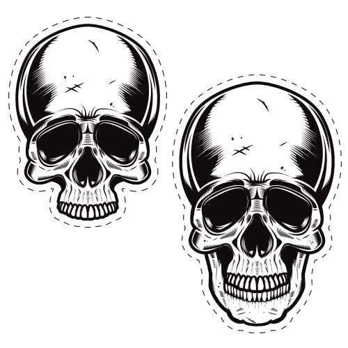 Halloween Skulls Cutting Sheet PVC Party Sign Decoration 133cm x 133cm Product Image