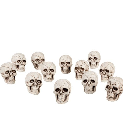 Skulls Halloween Plastic Props Decorations - Pack of 12 Product Image