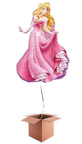 Sleeping Beauty Princess Helium Foil Giant Balloon - Inflated Balloon in a Box Product Image