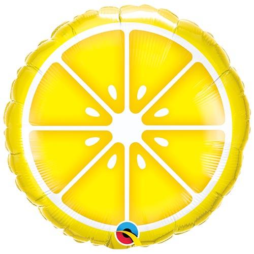 Sliced Lemon Round Foil Helium Qualatex Balloon 46cm / 18 in Product Image