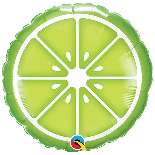 Sliced Lime Round Foil Helium Qualatex Balloon 46cm / 18 in Product Image