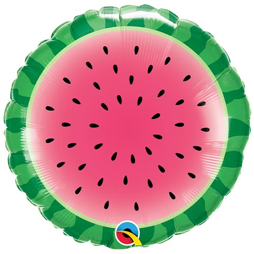 Sliced Watermelon Round Foil Helium Qualatex Balloon 46cm / 18 in Product Image