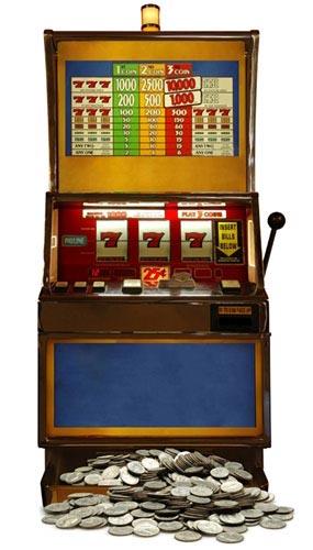 Slot Machine Lifesize Cardboard Cutout - 160cm
