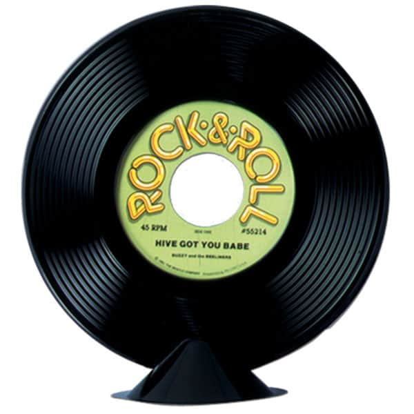 Small Rock And Roll Plastic Record Centrepiece Product Image