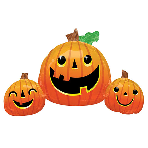 Smiley Pumpkins Halloween Helium Foil Giant Balloon 88cm / 35 in Product Image