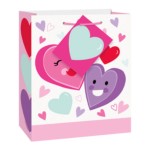 Smiling Hearts Valentine Small Gift Bag 15cm Product Image