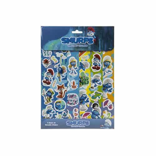 Smurfs Assorted Sticker Sheet Pack Of 5