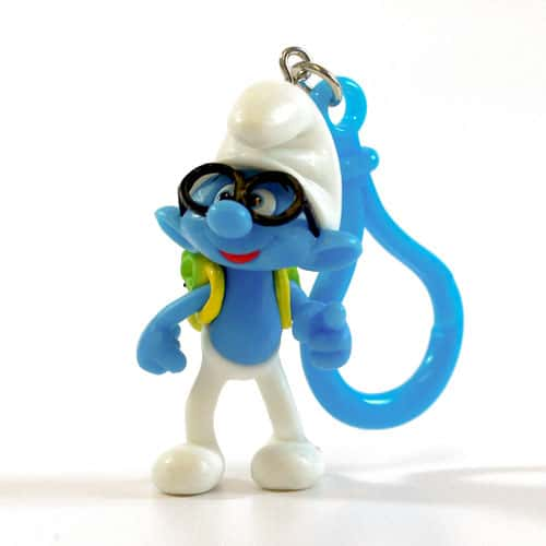 Smurfs Brain Design Keyring