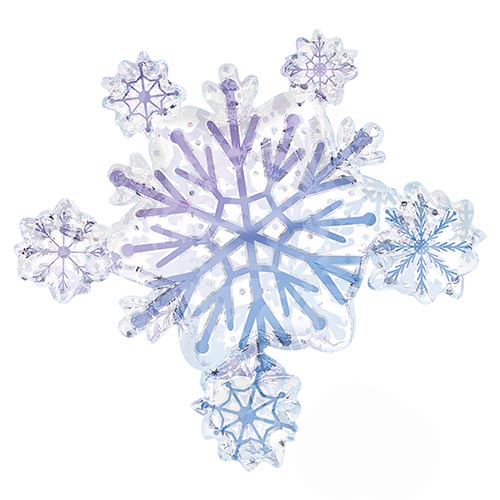 Snowflake Cluster Helium Foil Giant Balloon 79cm / 31 in Product Image