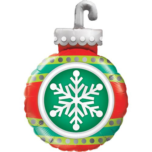 Snowflake Ornament Christmas Helium Foil Giant Qualatex Balloon 89cm / 35 in Product Image
