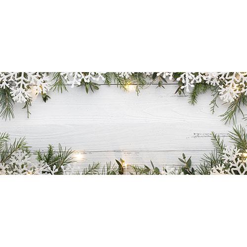 Snowflakes Christmas Landscape PVC Party Sign Decoration 60cm x 25cm Product Image