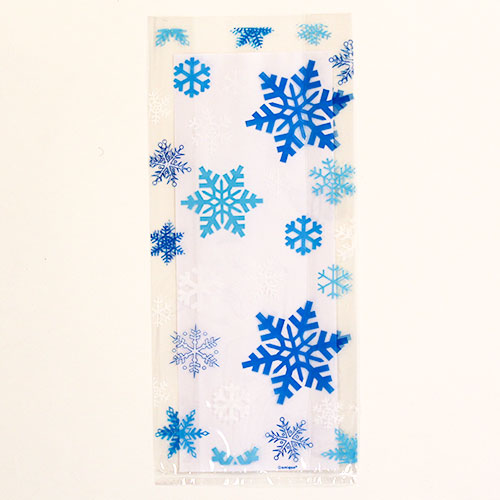 Snowflakes Cello Bags with Twist Ties - Pack of 20