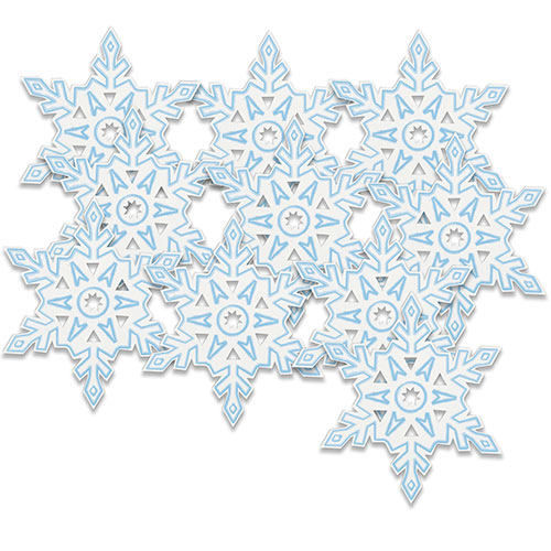 Snowflakes Christmas Mini Cutouts - Pack of 10 Product Image