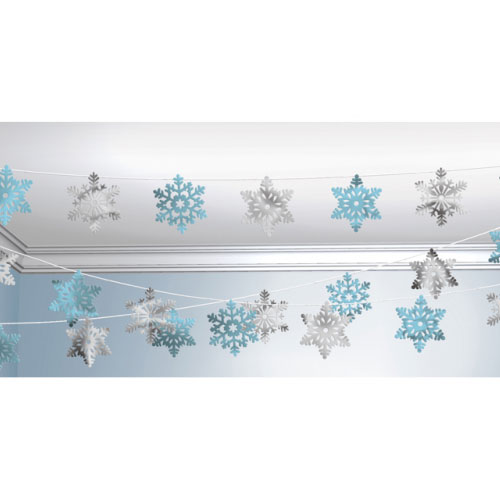 Snowflakes Christmas String Decoration 30m  Product Image