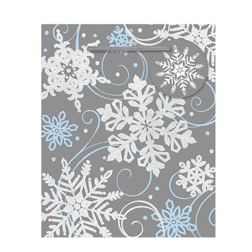 Snowflakes Small Christmas Gift Bag 14cm Product Image